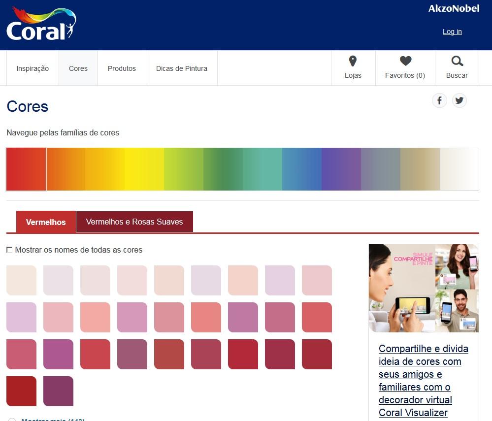 tintas coral cores 2017