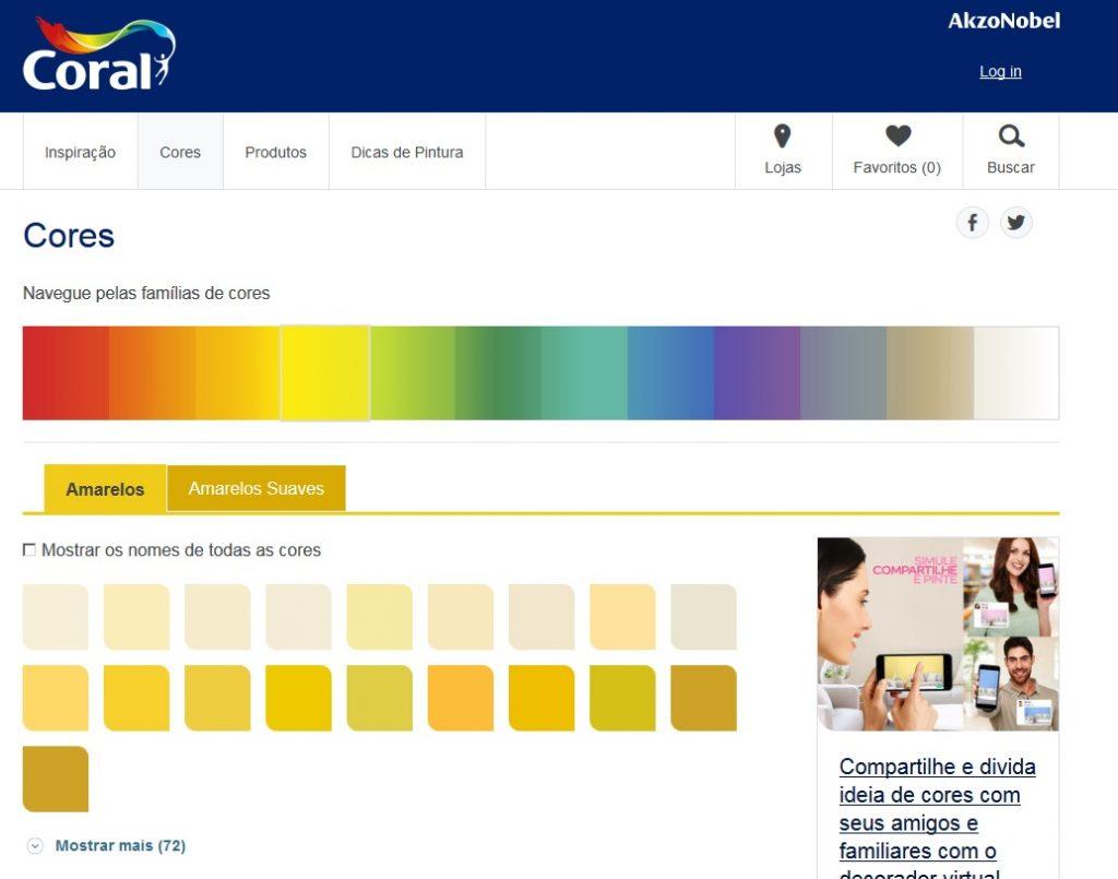 tintas coral paleta de cores 2017 tendencias