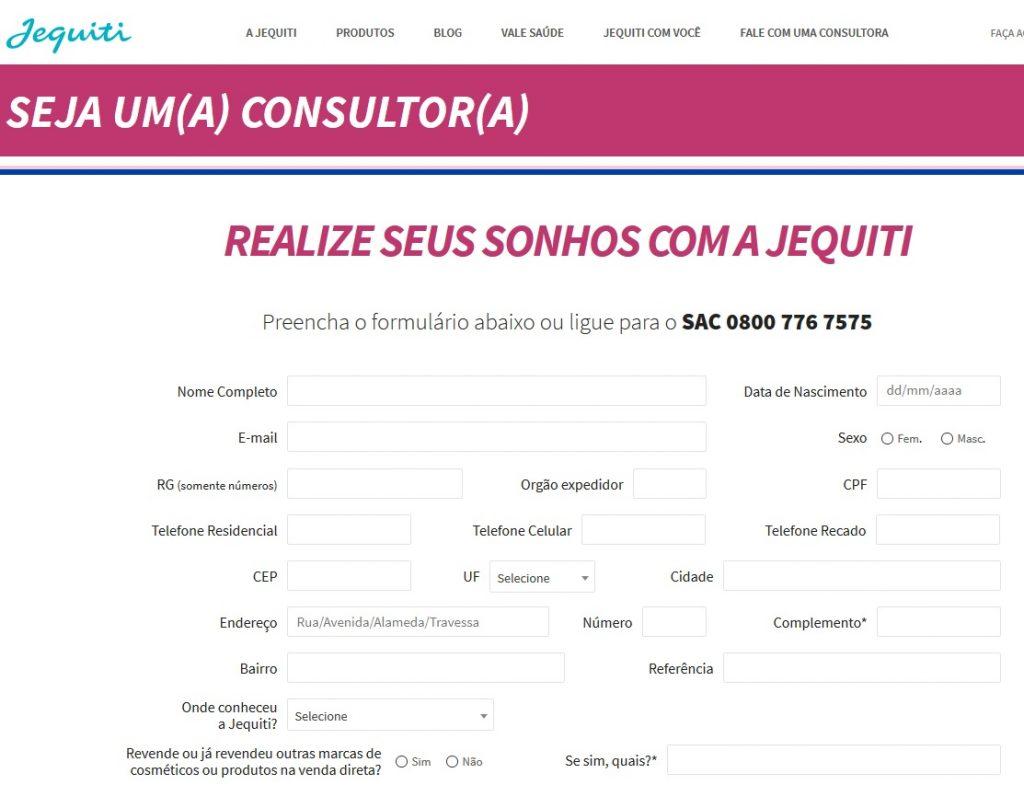 jequiti cadastro 2017 - 2018
