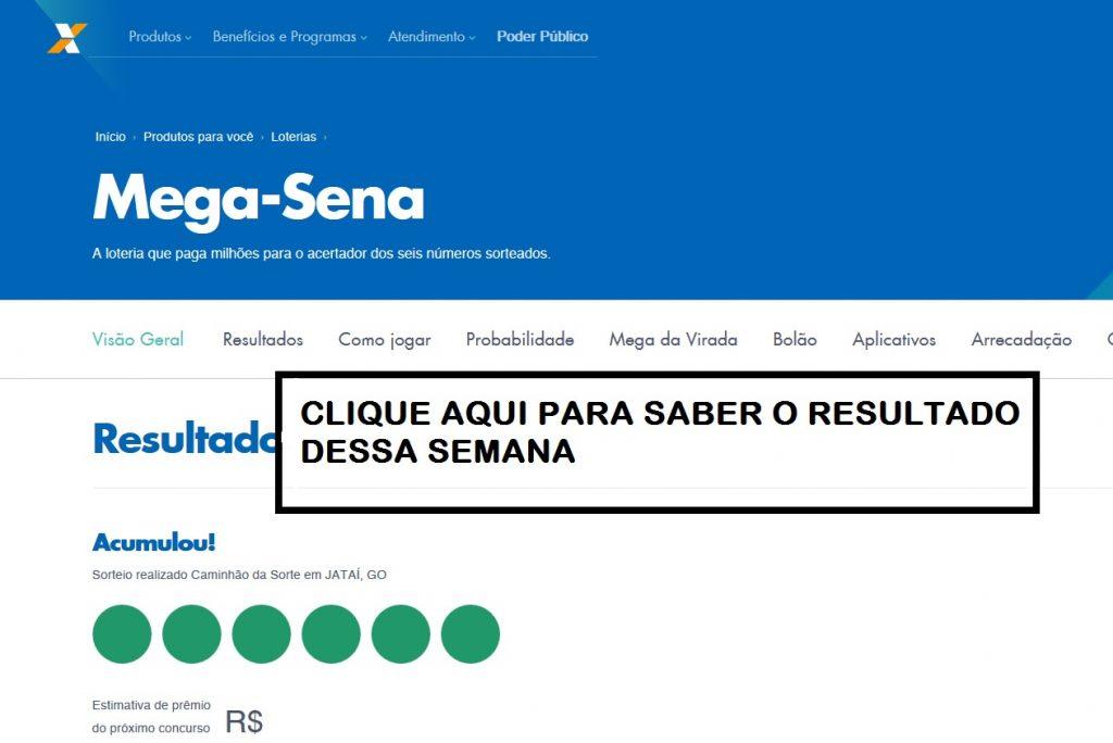 RESULTADO MEGA SENA 2018 - 2018 DE HOJE OU DE ONTEM