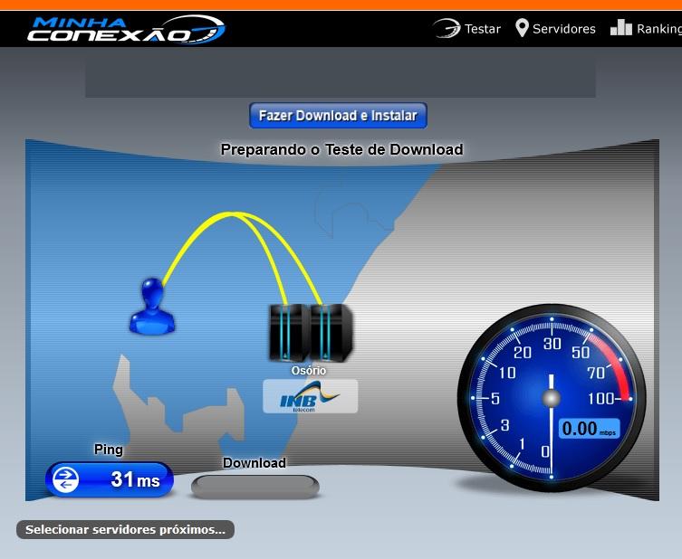 teste de velocidade de internet minha conexão