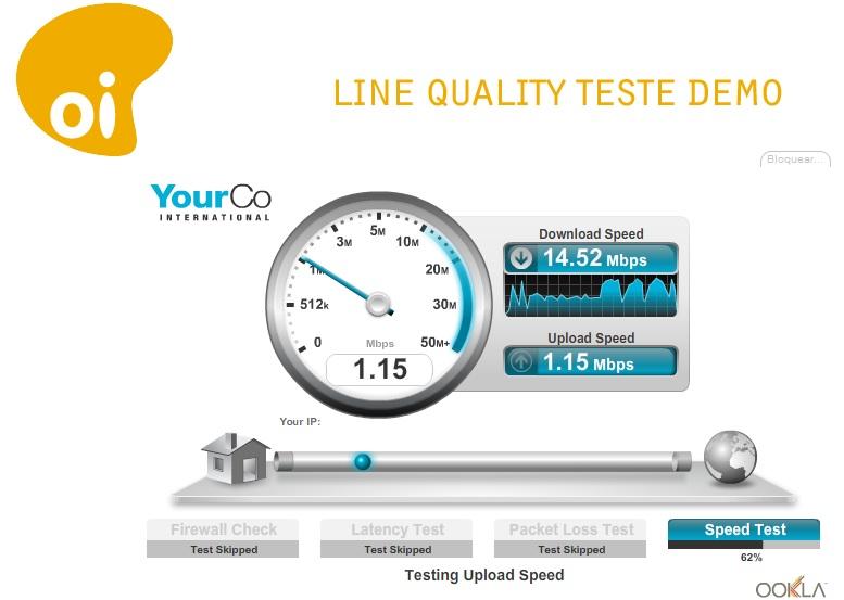 teste de velocidade de internet oi