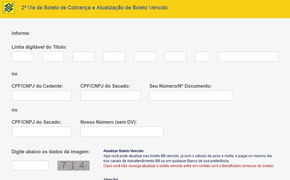 bb 2 via do boleto - banco do brasil 2 via boleto