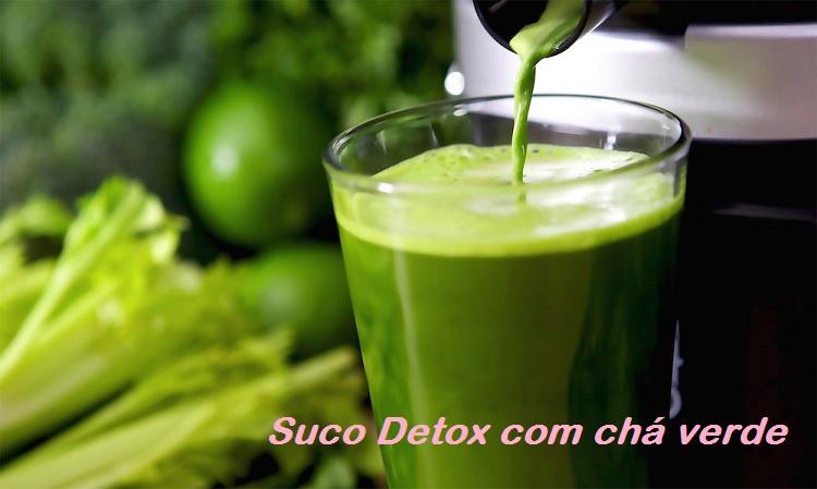 suco detox com chá verde
