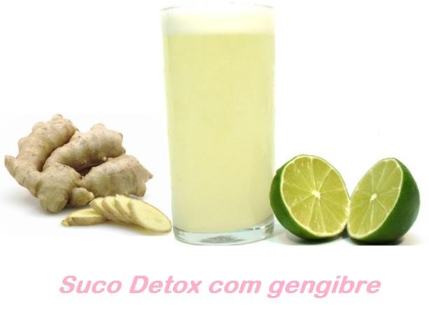 suco detox com gengibre e hortela