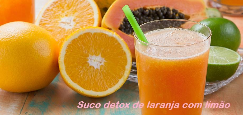 suco detox de laranja com limão