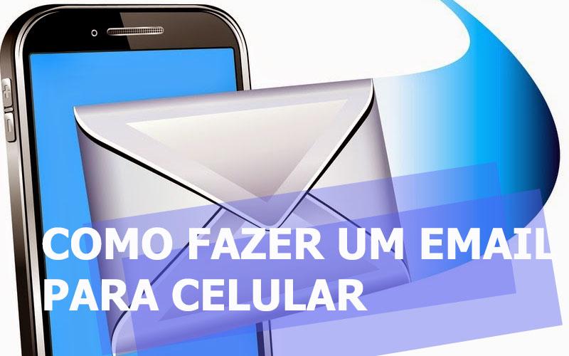 fazer email novo para celular