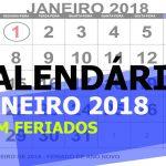 CALENDÁRIO JANEIRO 2018 COM FERIADOS PARA IMPRIMIR (EXPLICADO)