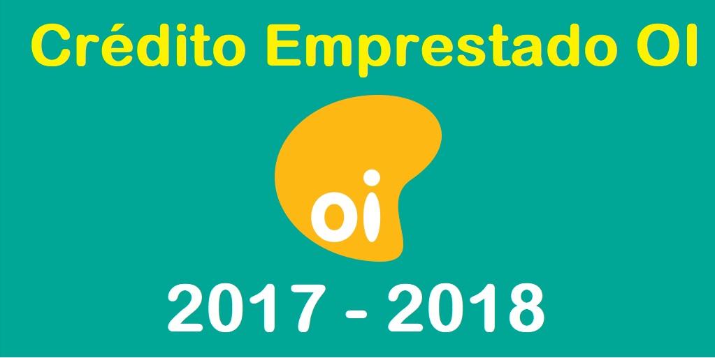 CREDITO ESPECIAL OI 2017 - 2018 ONLINE