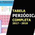 TABELA PERIÓDICA 2018 COMPLETA | ESTUDE PARA PROVA COM ESSA NOVA TABELA PERIÓDICA DOS ELEMENTOS