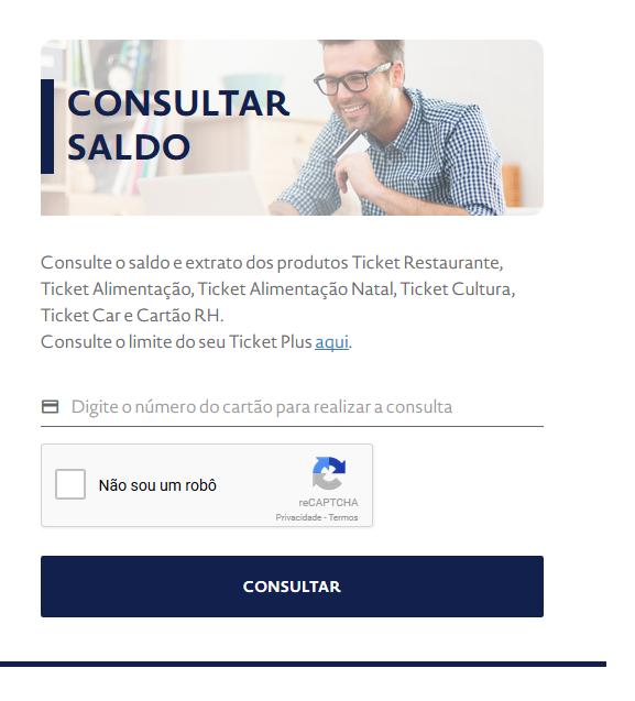 TICKET ALEMENTAÇÃO SALDO E EXTRATO DO CARTÃO