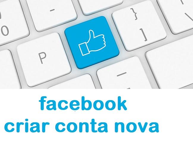criar conta facebook