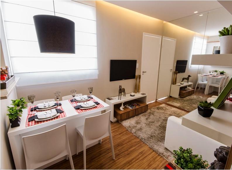 sala de jantar apartamento simples