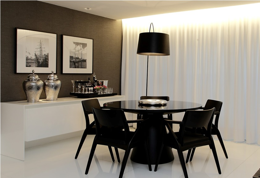 salas de jantar modernas e luxuosas