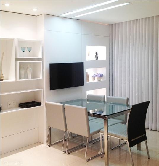 salas de jantar pequenas e simples apartamento