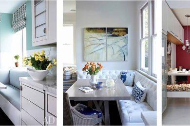 salas de jantar simples e pequenas
