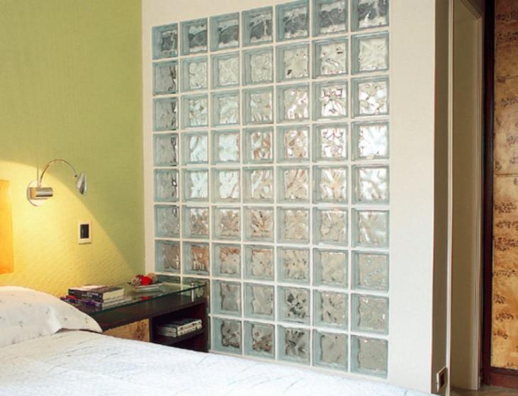 blocos de vidro quarto