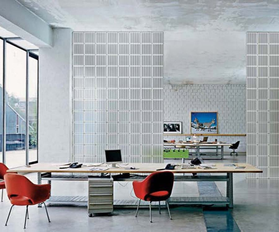 parede com blocos de vidro tijolo de vidro