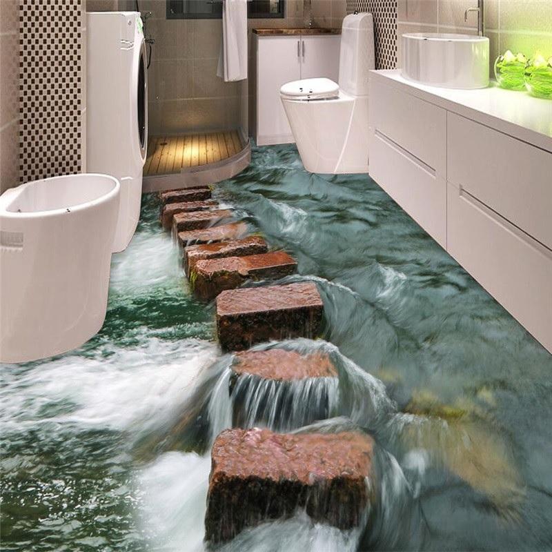 piso de banheiro porcelanato liquido 3d