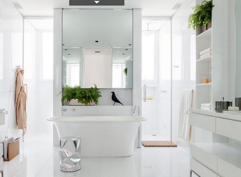 piso para banheiro branco