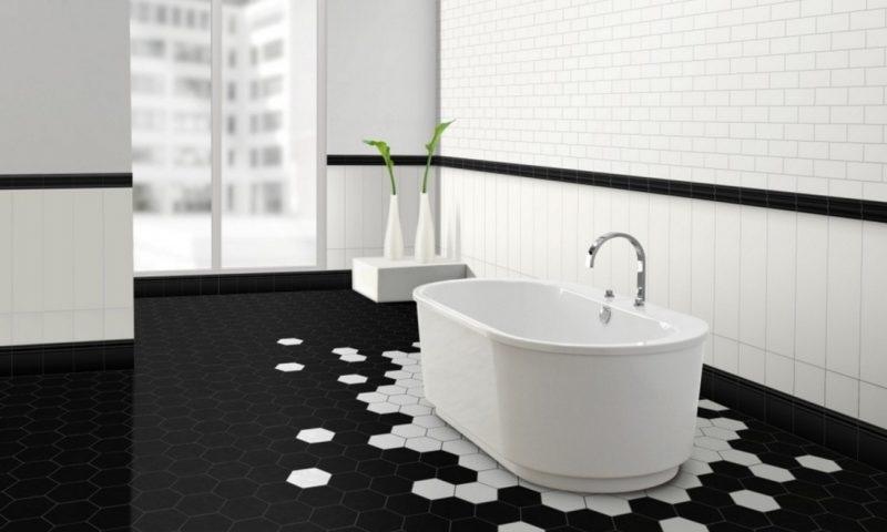 piso para banheiro preto