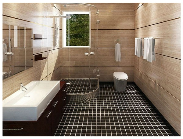 pisos para banheiro ladrilho preto