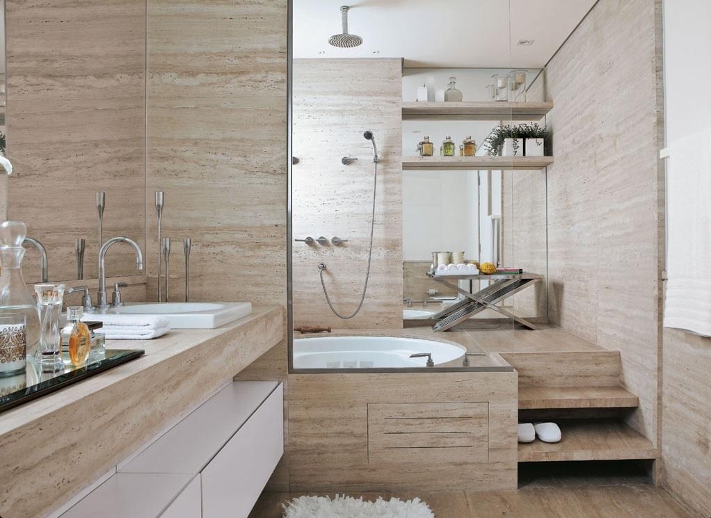 pisos para banheiros pequenos e de luxo
