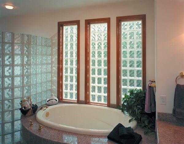 tijolo de vidro banheiro e box