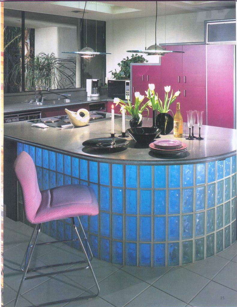 tijolos de vidro colorido
