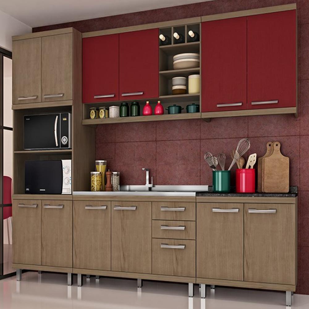armario de cozinha de madeira casas bahia