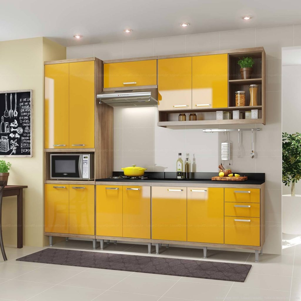 armario de cozinha modulado pequeno