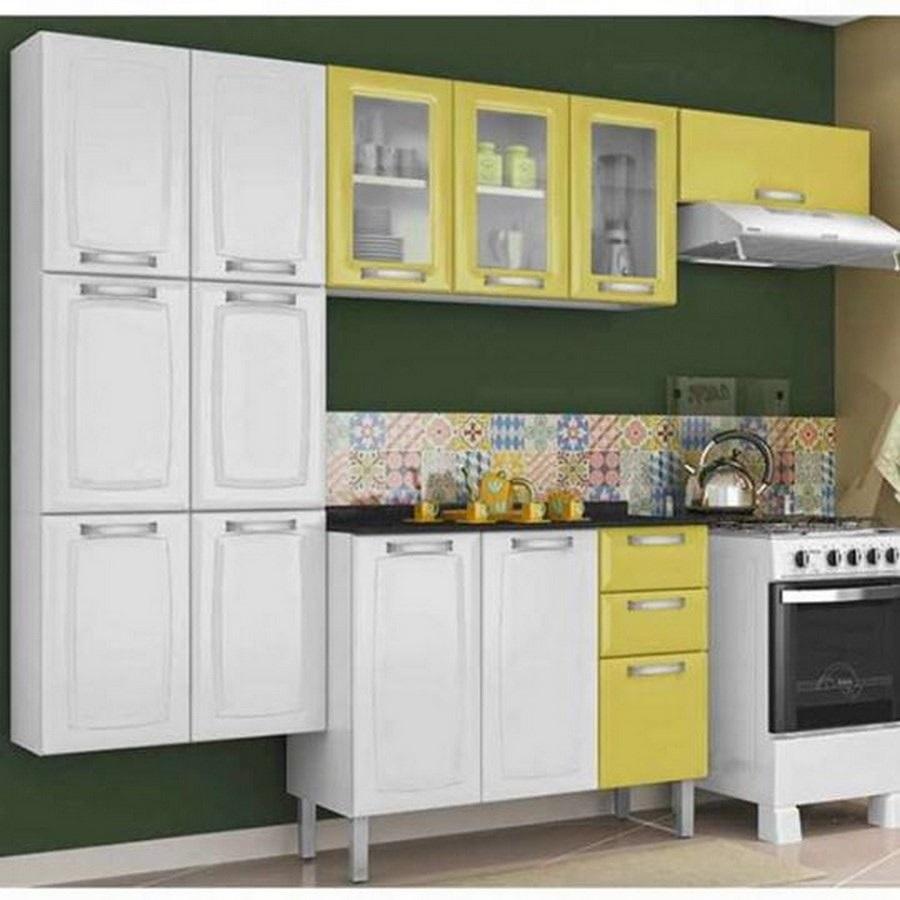 armario de cozinha pequeno em aço
