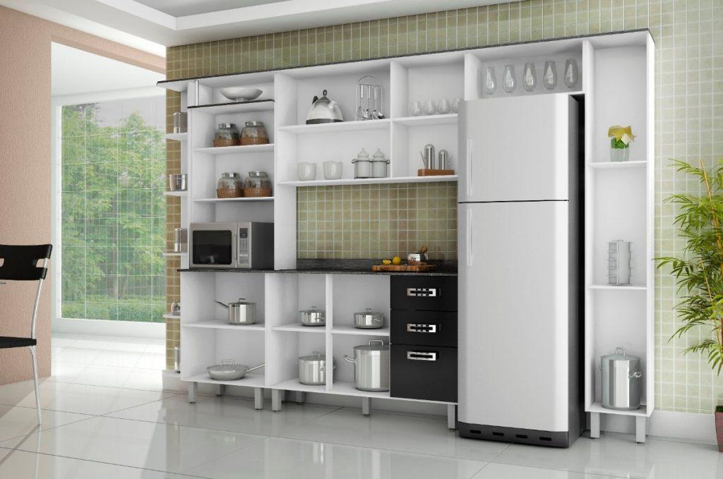 armario de cozinha pequeno simples de parede