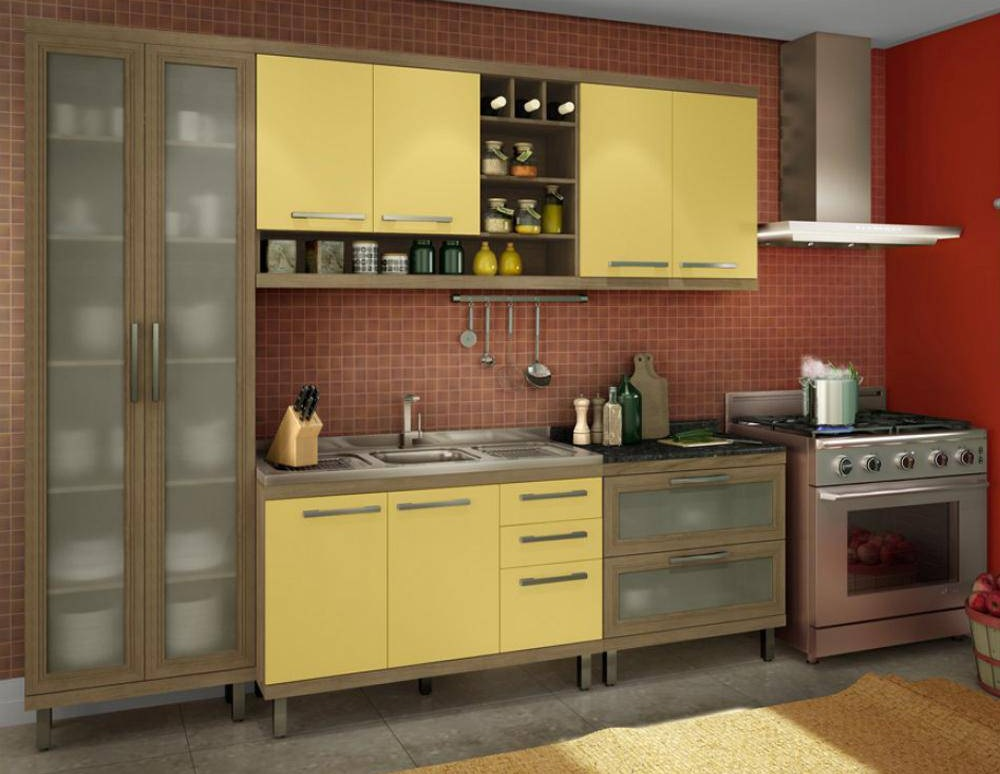 armario de cozinha simples casas bahia