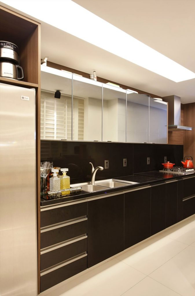 armarios de cozinha planejado de parede