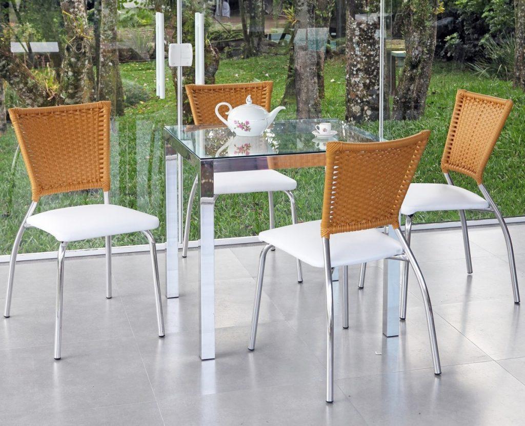 mesa 4 lugares para sala ou jardim