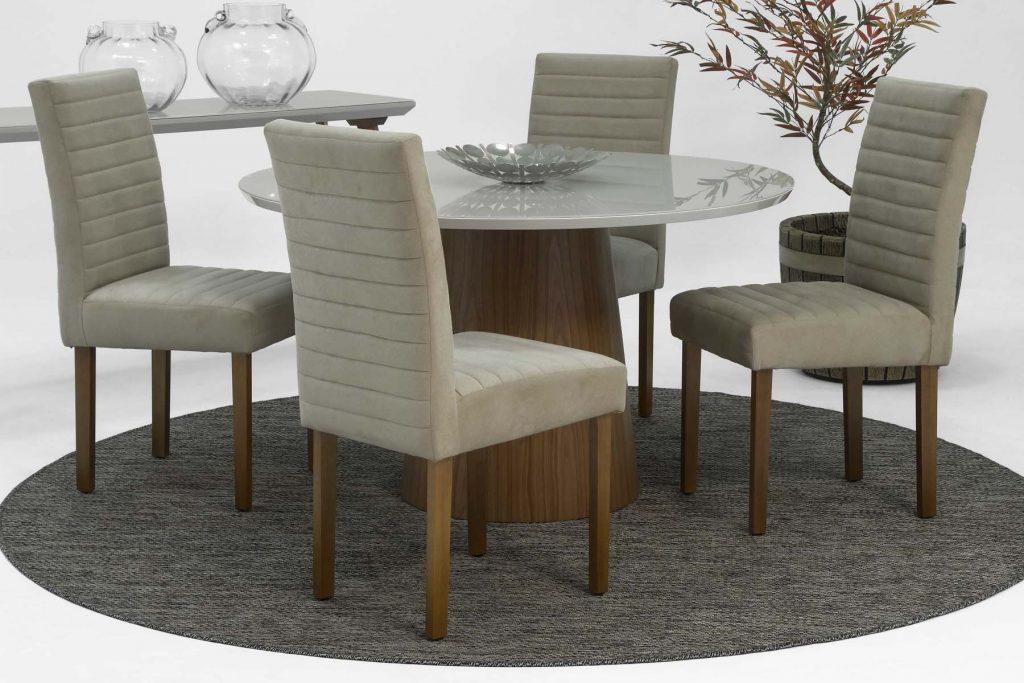 mesa de jantar 4 cadeiras de madeira