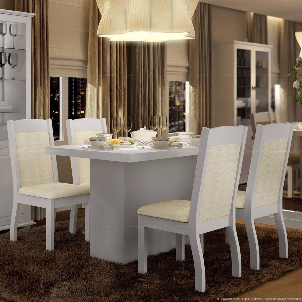 mesa de jantar 4 lugares moderna