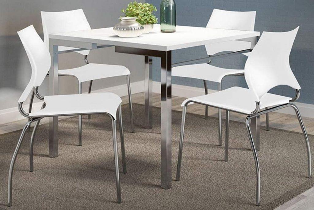 mesa de jantar 4 lugares pequena para apartamento ou casa