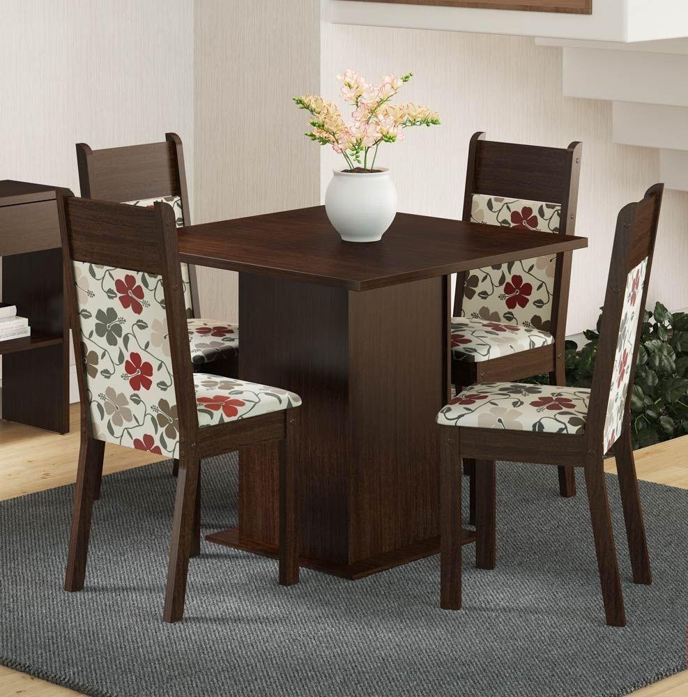 mesa de jantar 4 lugares pequena