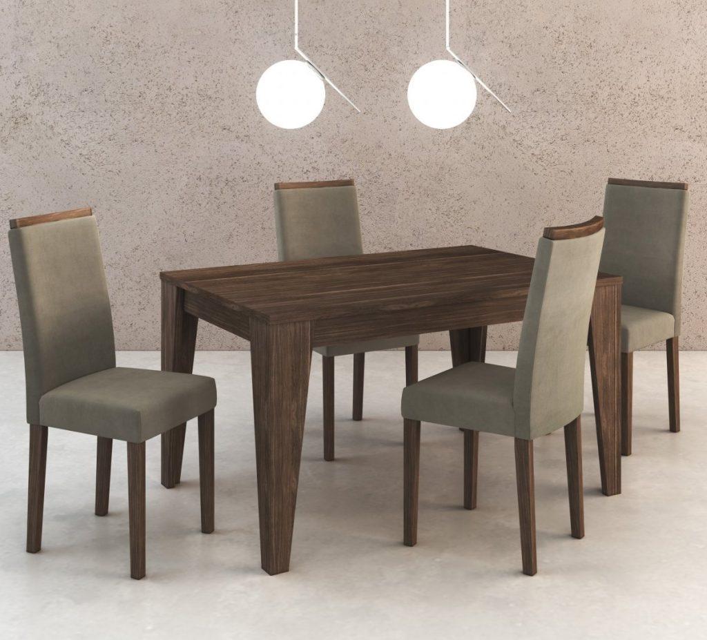 mesa de jantar 4 para apartamento pequeno