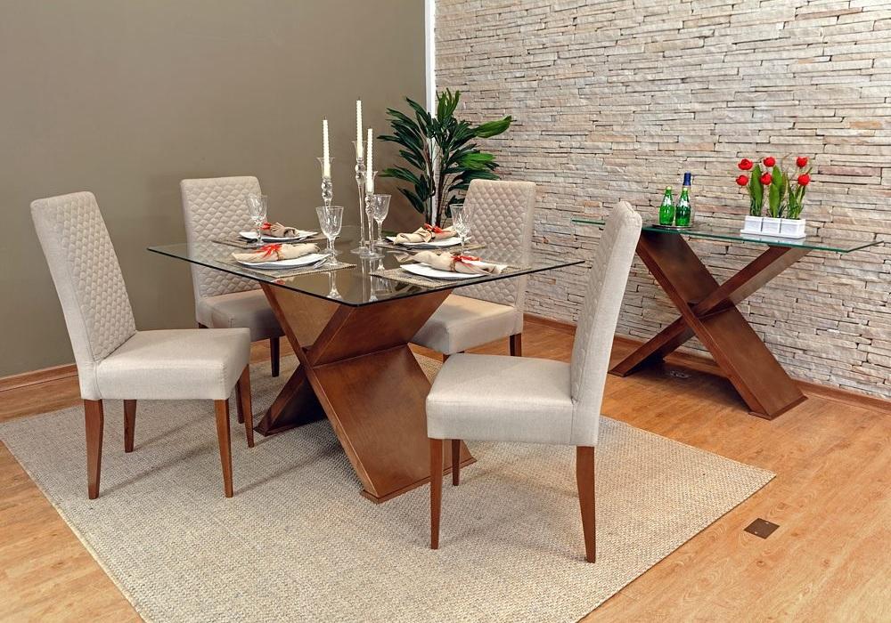 mesa de jantar de vidro 4 cadeiras