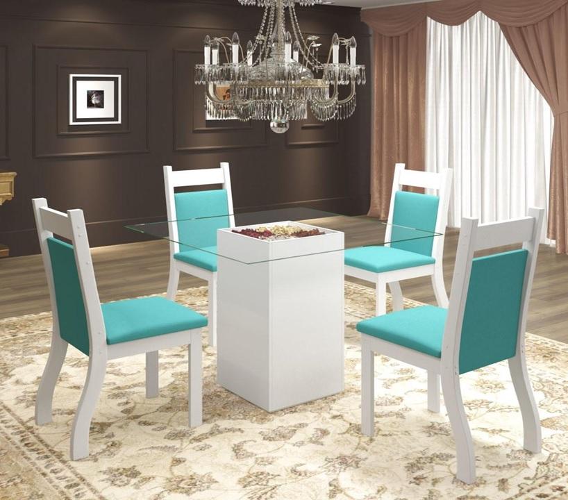 mesa de jantar de vidro 4 lugares