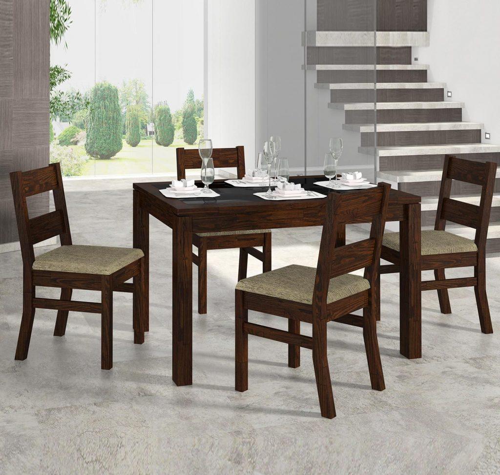 mesa de madeira 4 cadeiras