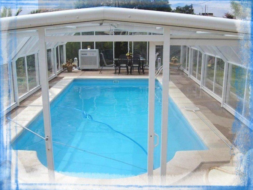 piscina de fibra aquecida