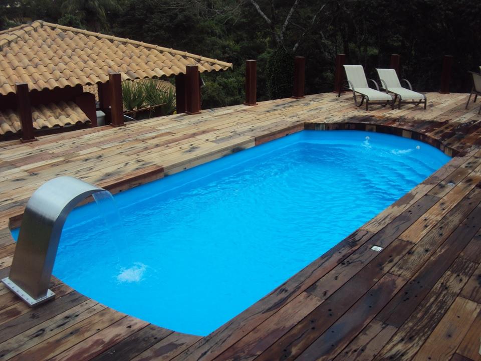 piscina de fibra com a venda