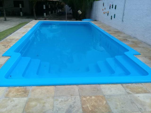 piscina de fibra com piso rs
