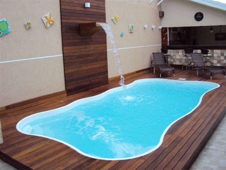 piscina de fibra pequena preço