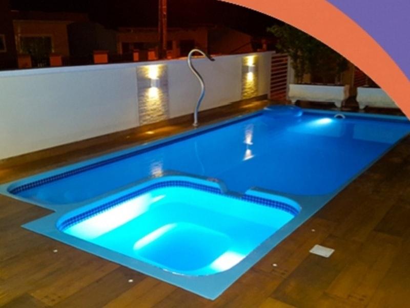 piscina de fibra rs com hidro