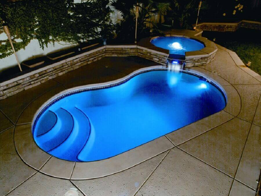 piscinas de fibra com prainha preços